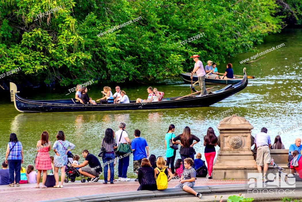 Stock Photo: Bethesda Landscape Terrace, Central Park, New York City, Manhattan, USA.
