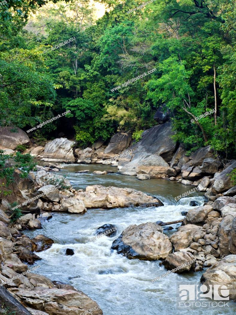 Stock Photo: Stream in Ob Luang National Park in Chiang Mai, Thailand.