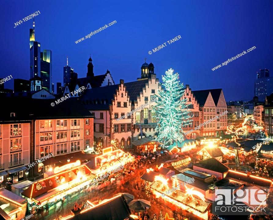 Stock Photo: Christmas Market, Frankfurt, Germany.