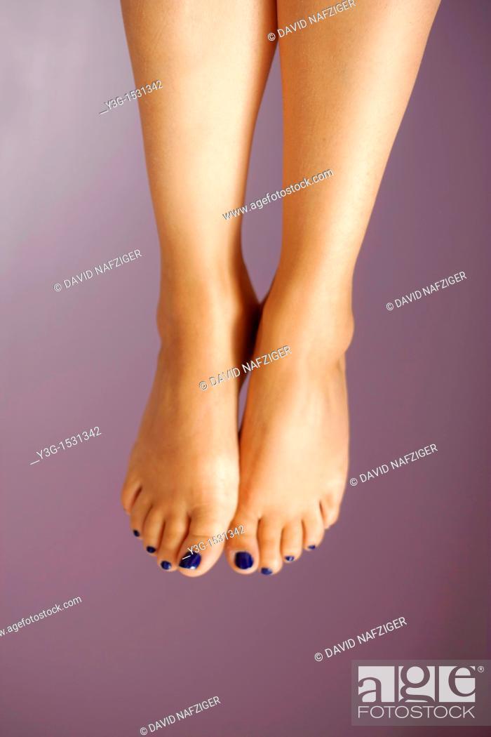 Stock Photo: Barefoot feet.