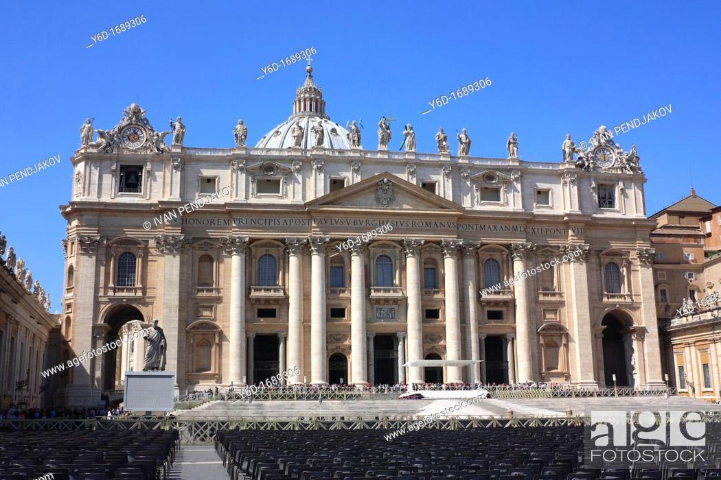 Stock Photo: St  Peter's Basilica, Vatican City.