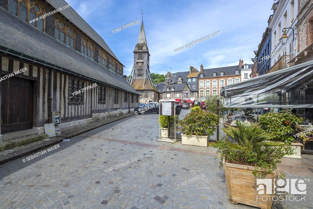 Stock Photo: Bell tower of the Church of Saint Catherine, Honfleur, Calvados, Normandy, France, Europe.