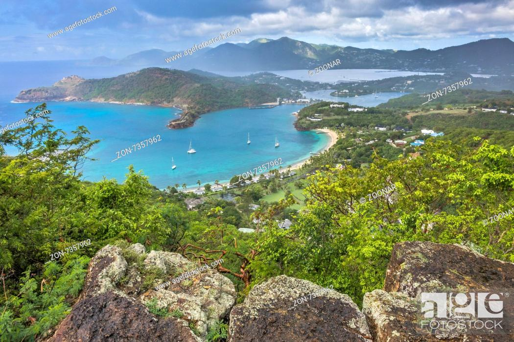 Stock Photo: View Of English Harbour From Shirley Heights Antig.