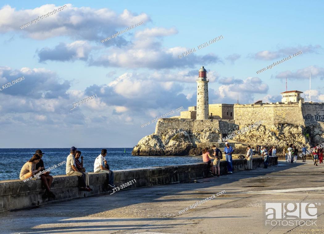 Stock Photo: El Morro Castle and Lighthouse, Havana, La Habana Province, Cuba.