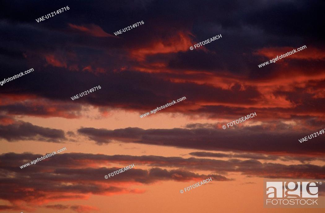 Stock Photo: Sunset Sky.