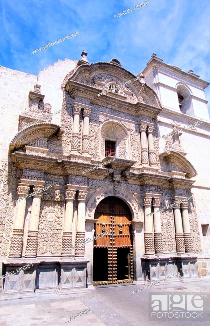 Stock Photo: Peru - Arequipa - La Compañia.