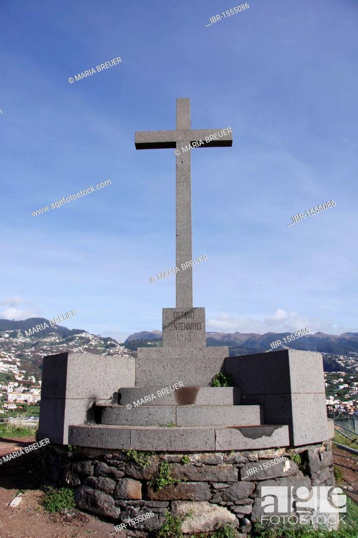 Pico Da Cruz.Pico Da Cruz 261 M Cross Monument Near Funchal Madeira