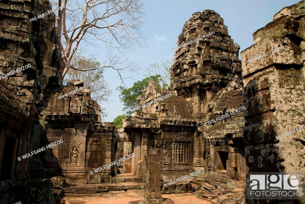 Stock Photo: Buddha temple Banteay Kdei in Angkor city, Cambodia, Asia.