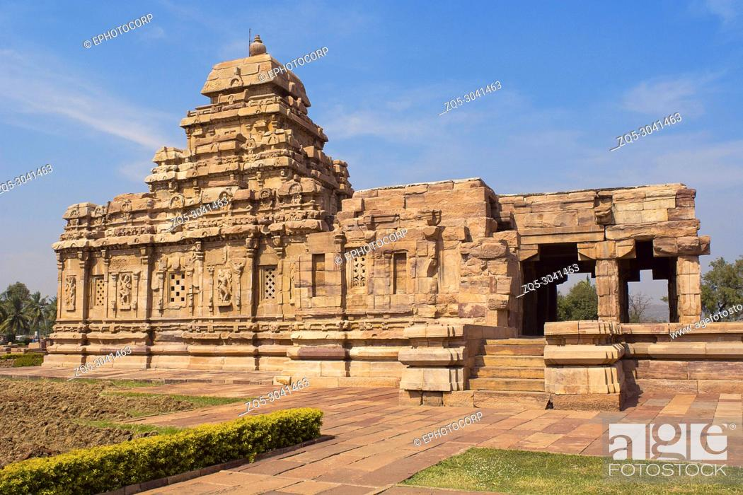 Stock Photo: Sangameshwara Temple, Pattadakal, Karnataka, India.