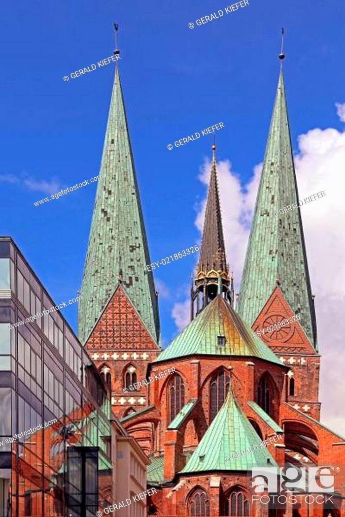 Stock Photo: Marienkirche in Lübeck.