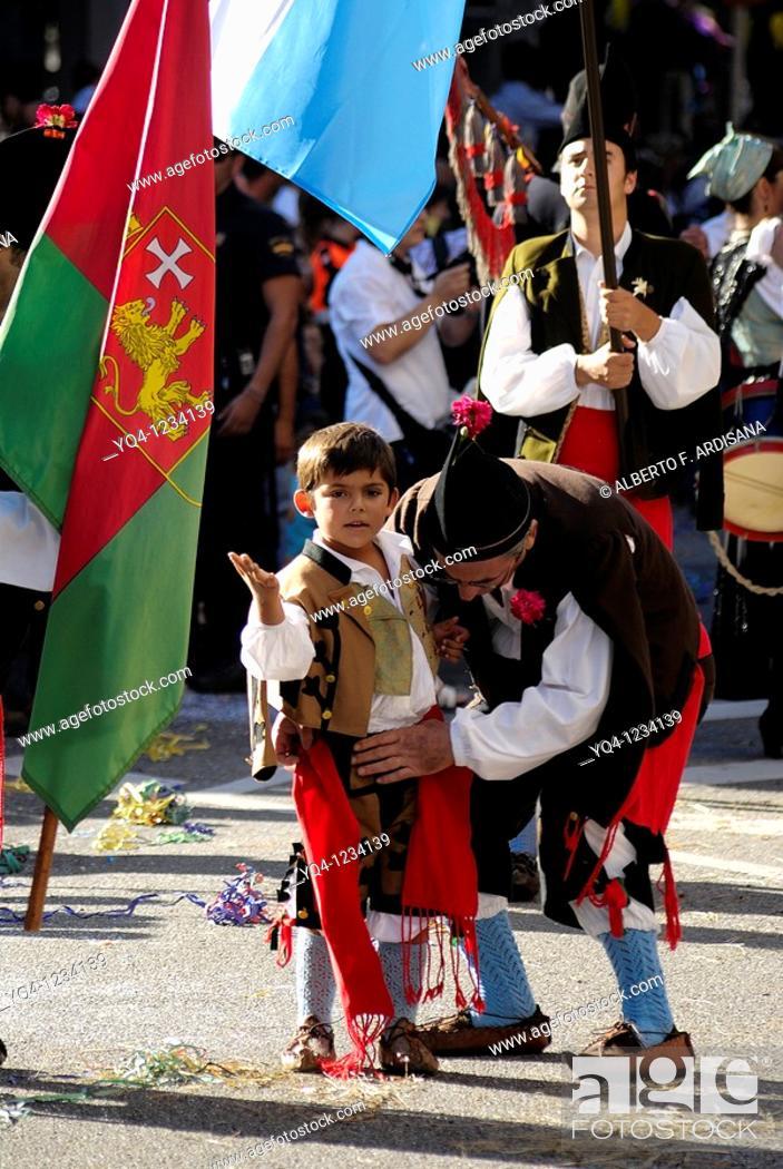 Stock Photo: America Day in Asturias Oviedo, Asturias.