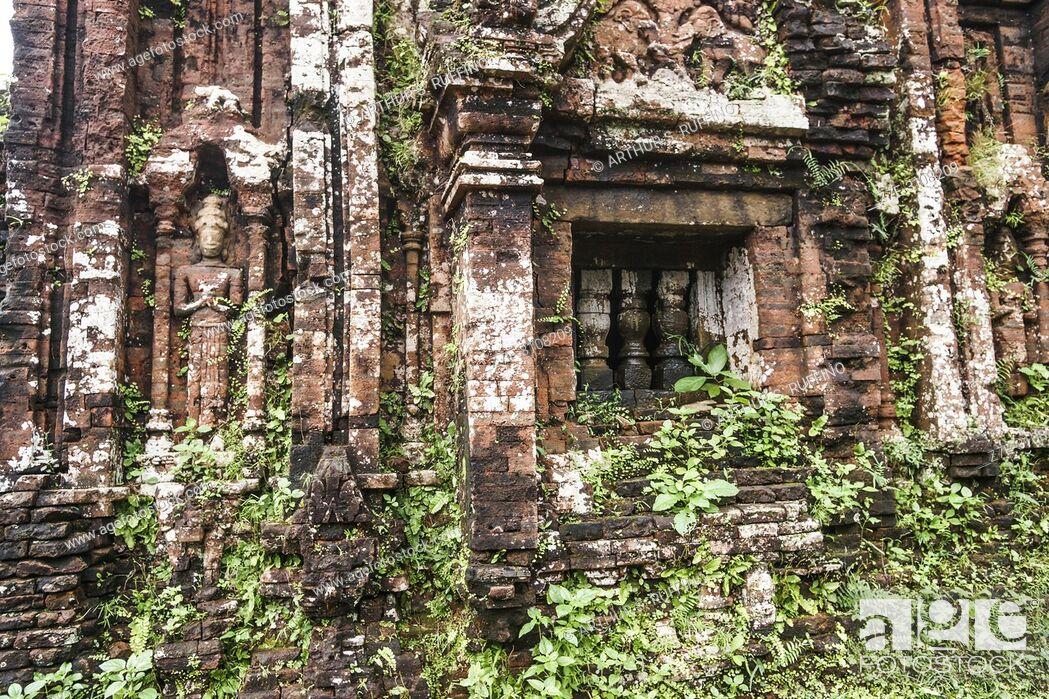 Stock Photo: My Son Sanctuary, archaeological site, UNESCO World Heritage Site, Quang Nam Province, Da Nang, Vietnam, Southeast Asia.