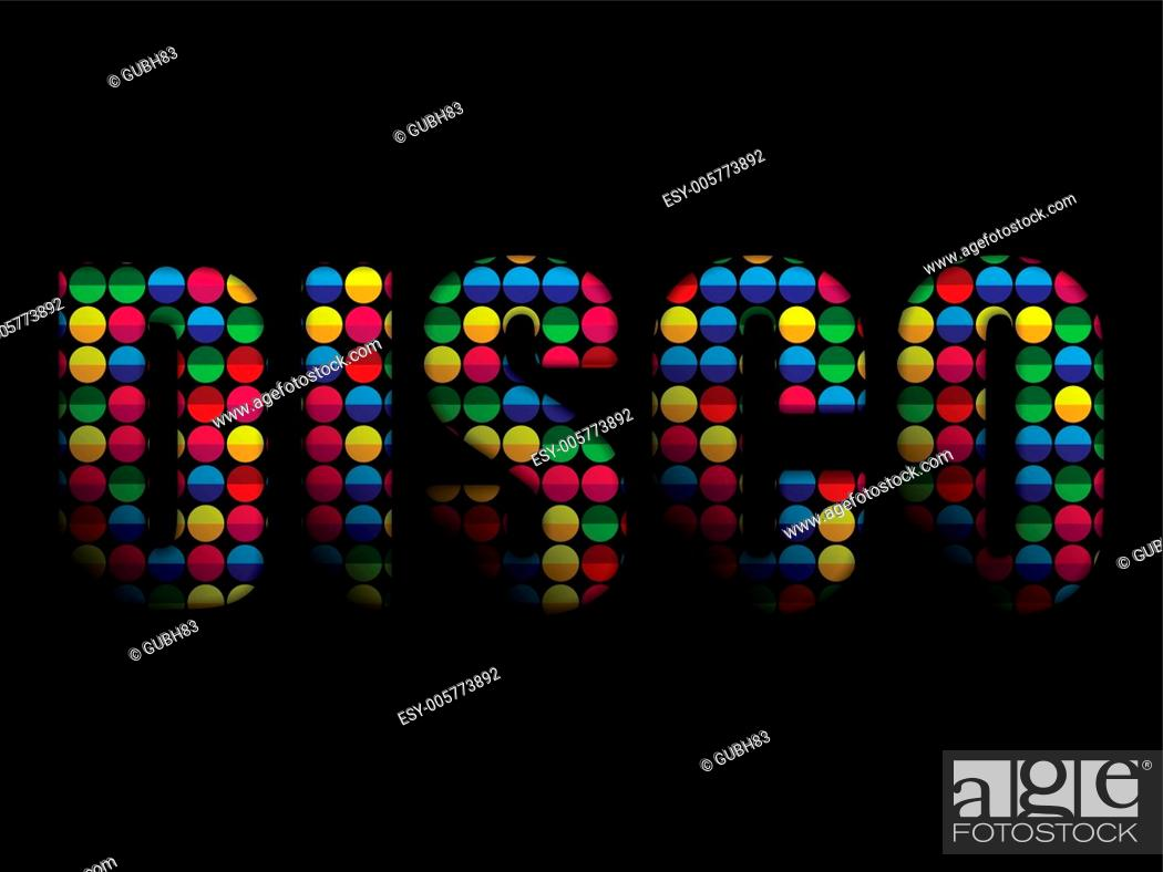 Stock Vector: Disco Letters Party Music Colorful Alphabet.