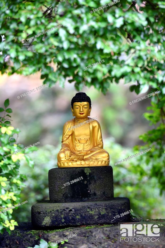 Stock Photo: Buddha statue, Jeju island, South Korea.