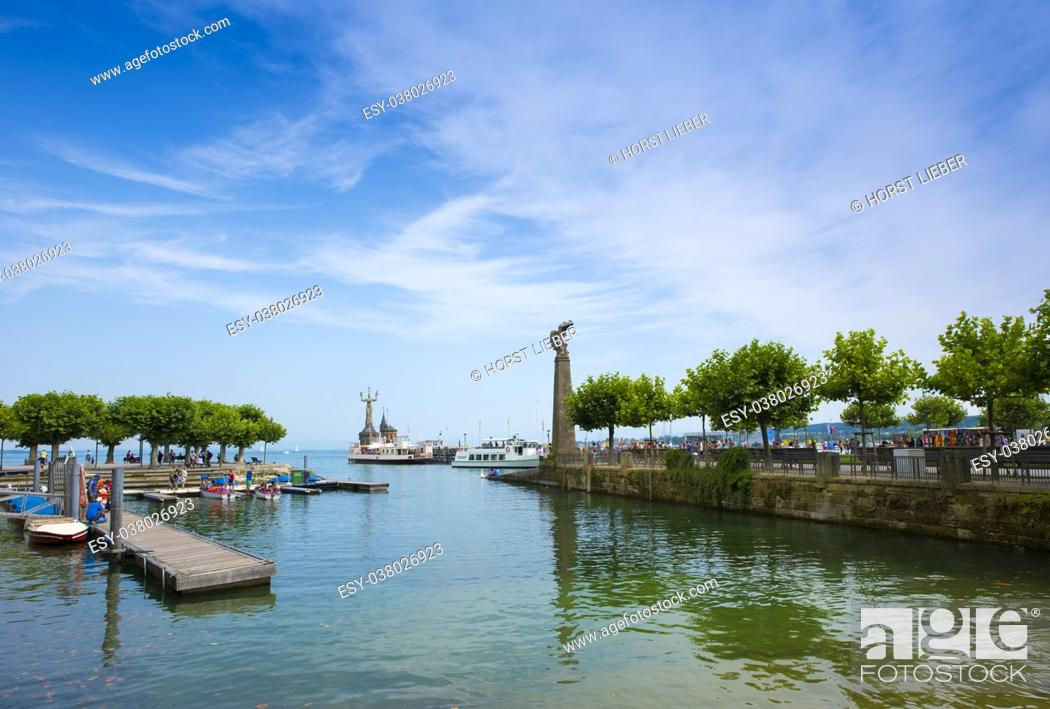 Stock Photo: Port, Constance - Lake Constance, Baden-Wuerttemberg, Germany, Europe.