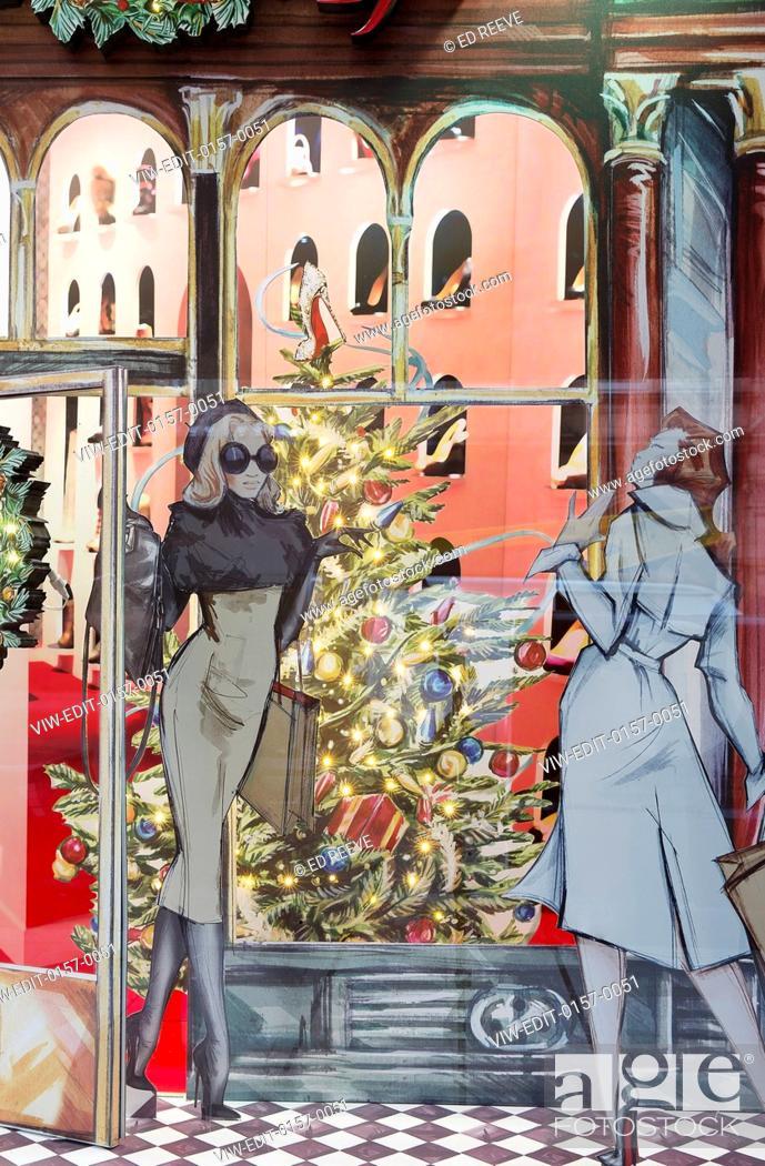 a11f803c195d Stock Photo - Display windows. Christian Louboutin - Christmas Windows