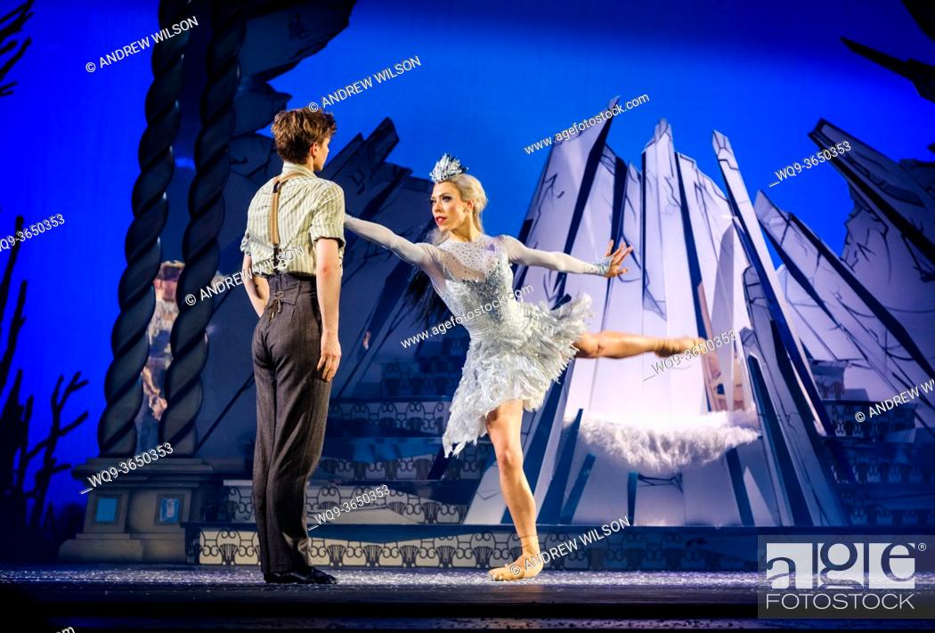 Stock Photo: A scene from Scottish Ballet's spectacular world premier production of The Snow Queen.