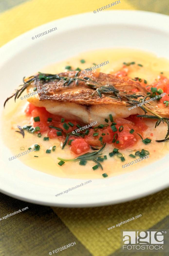 Stock Photo: Fish Dish With Sauce.