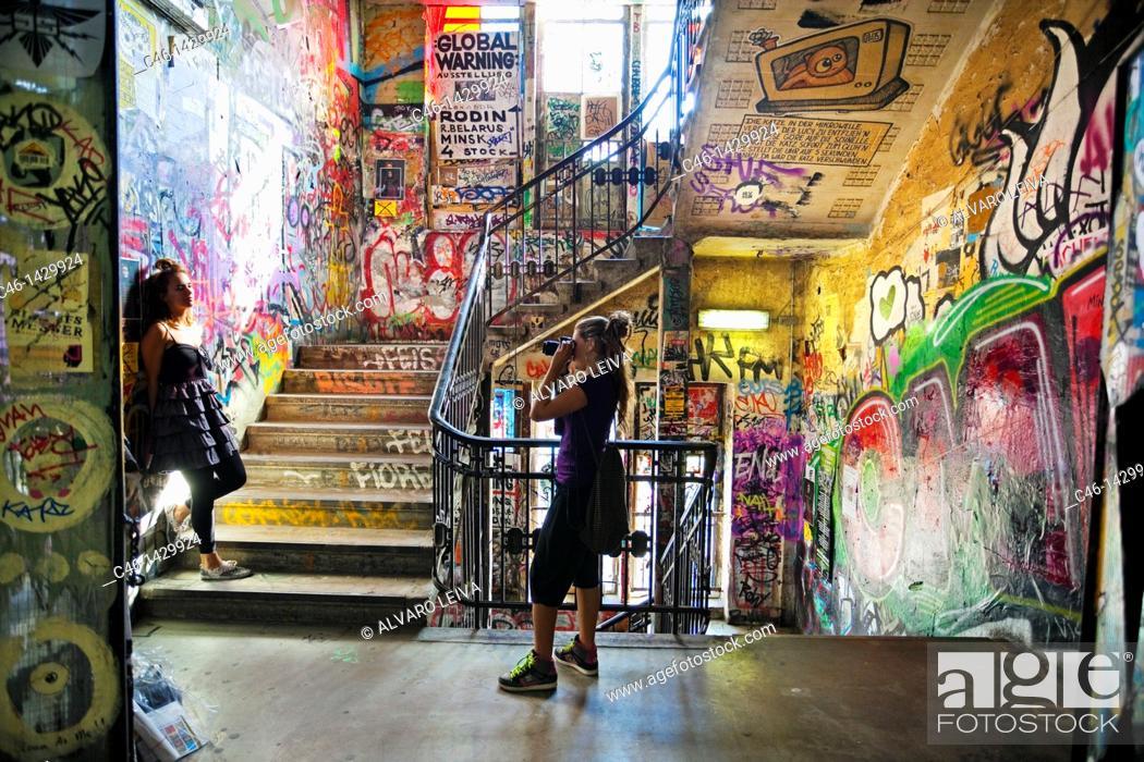 Stock Photo: Kunsthaus Tacheles, house for art, Oranienburger Road, Berlin, Germany.
