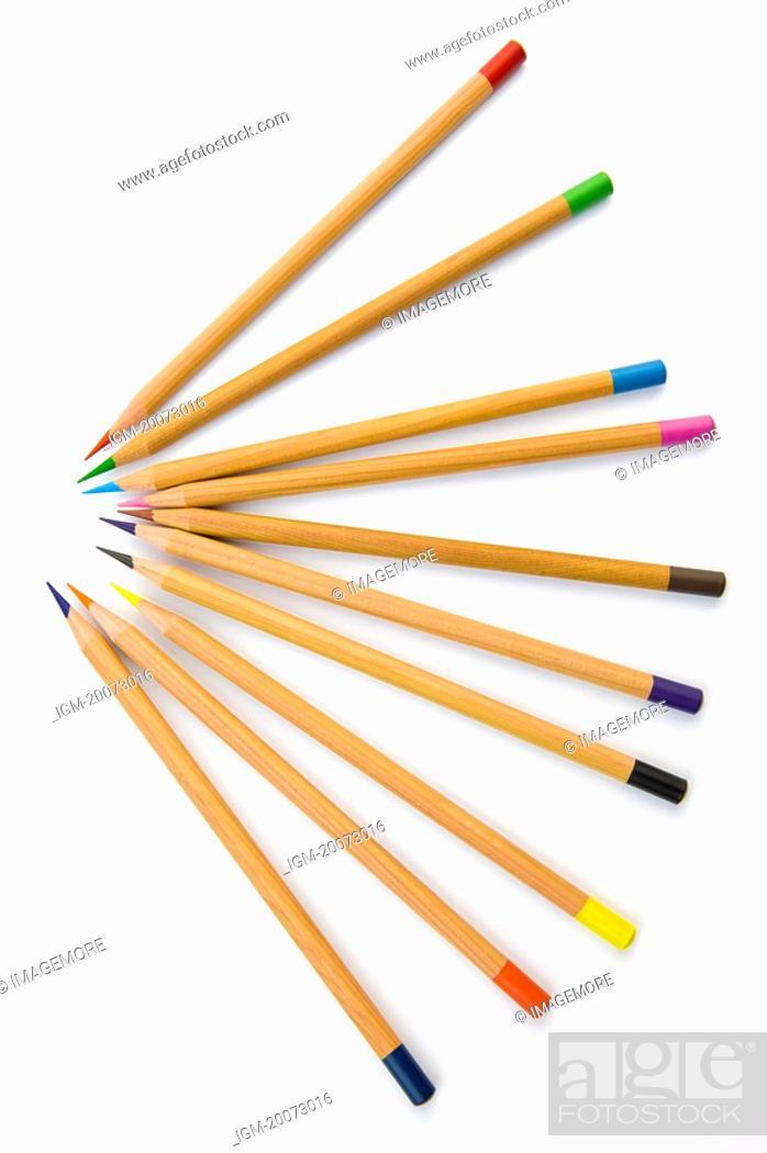 Stock Photo: Colored Pencils.