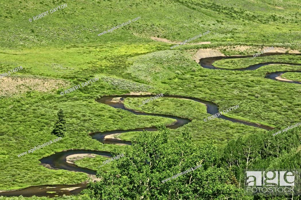 Stock Photo: The Slate River is near Crested Butte, Colorado.