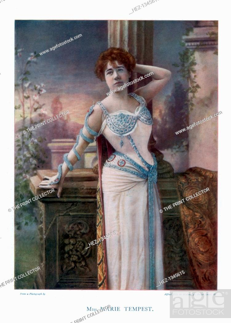 Stock Photo: Dame Marie Tempest, English singer and actress, 1901.