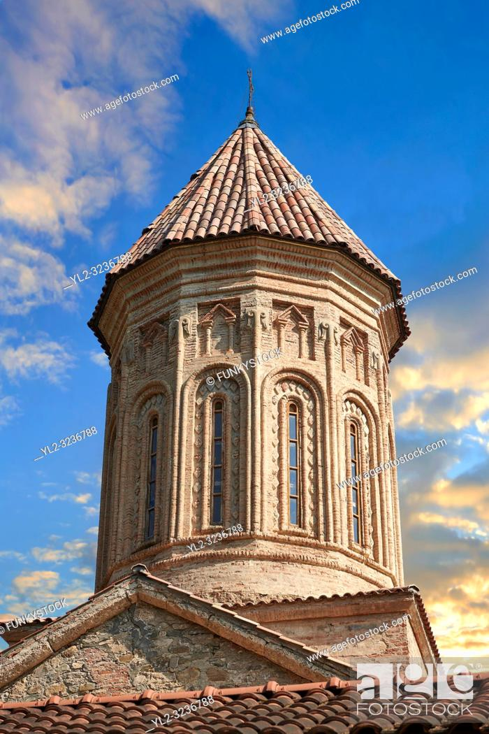 Stock Photo: close up ictures & image of the Church of the Transfiguration of Ikalto monastery was founded by Saint Zenon, one of the 13 Syrian Fathers.