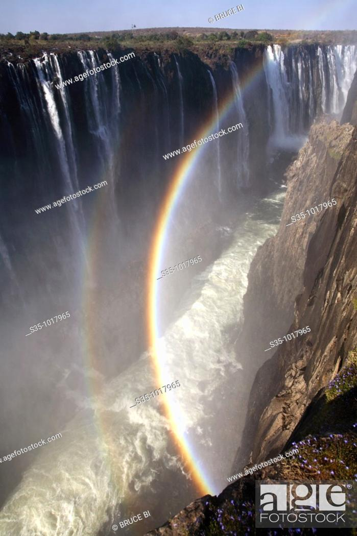 Stock Photo: The view of Victoria Falls from Zimbabwe side.