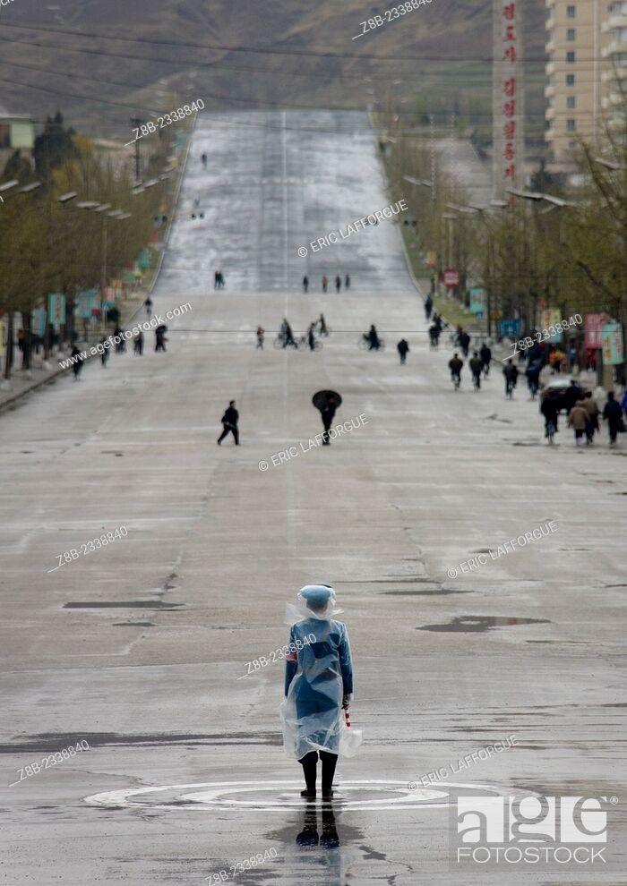 Stock Photo: Main Avenue In Kaesong, North Korea.