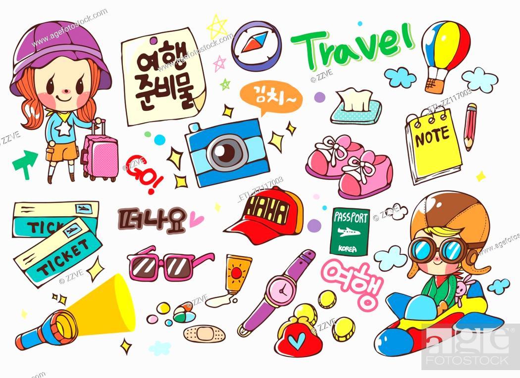 Stock Photo: Sticker World.