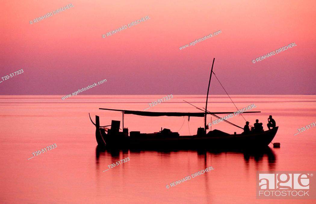 Stock Photo: Fishing Boat, Dhoni, Maldives Islands, Ari Atoll, Maayafushi. Maldives Islands.