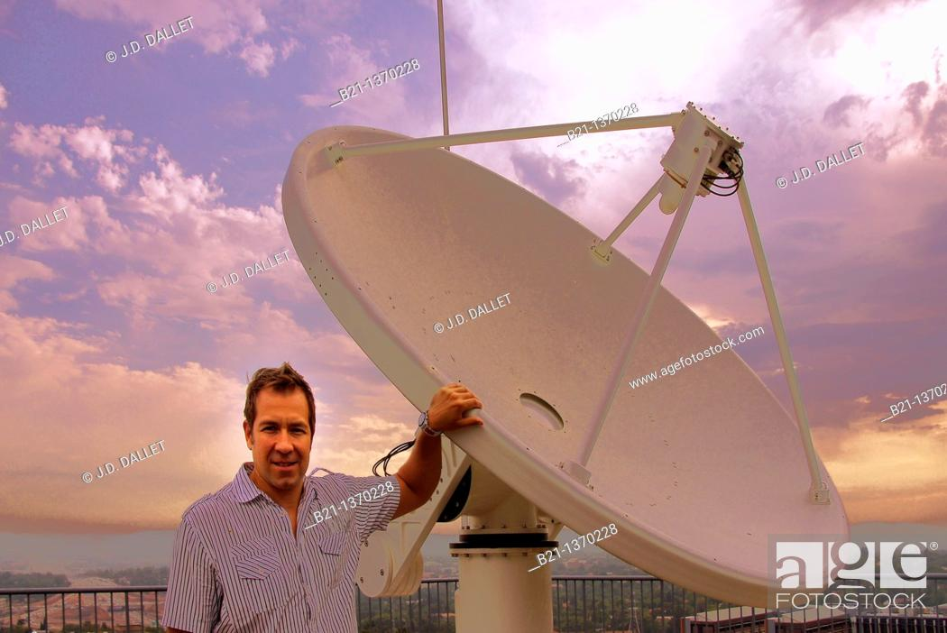 Stock Photo: Africa- South Africa- Pretoria: Dr Philip Frost, Senior Scientist on Remote Scenery, at the CSIR of Pretoria.