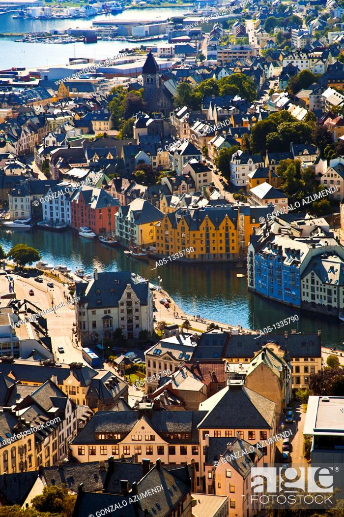 Stock Photo: Alesund More og Romsdal, Norwegian fjords, Norway.