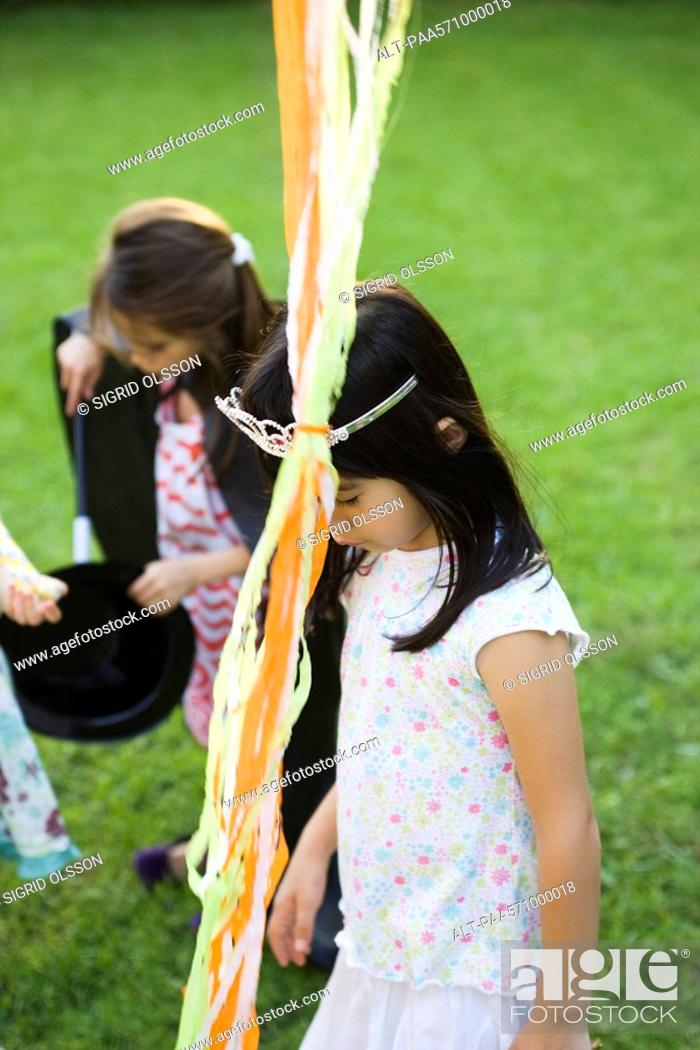 Stock Photo: Children at outdoor party.