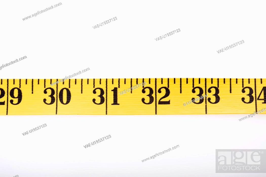 Stock Photo: Measuring tape in a straight line.