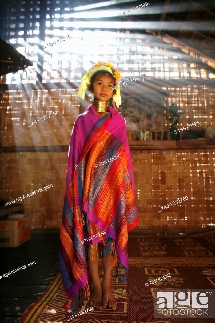 Stock Photo: Karen tribe longneck in Thailand.