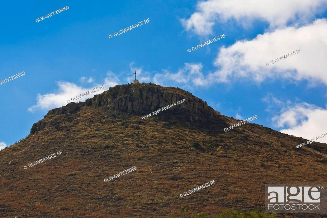 Stock Photo: Low angle view of a hill, Real De Asientos, Aguascalientes, Mexico.