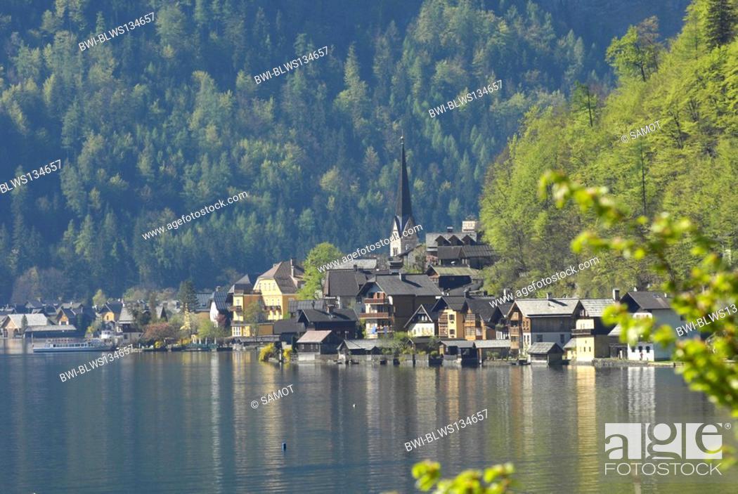 Stock Photo: lake Hallstatt, Hallstaetter See, Austria, Oberoesterreich, Dachstein Area, Hallstatt.