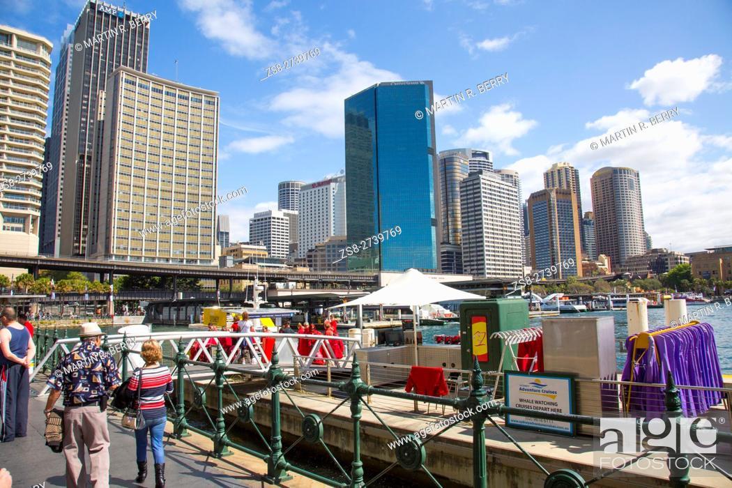 Stock Photo: Sydney Circular Quay and city centre, Australia.
