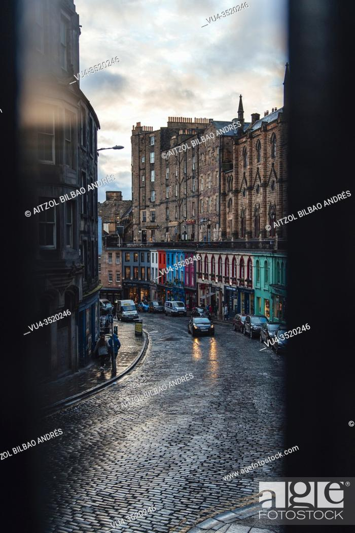Stock Photo: Edinburgh's Old and New Towns were listed as a UNESCO World Heritage Site in 1995 in recognition of the unique character of the Old Town with its medieval.