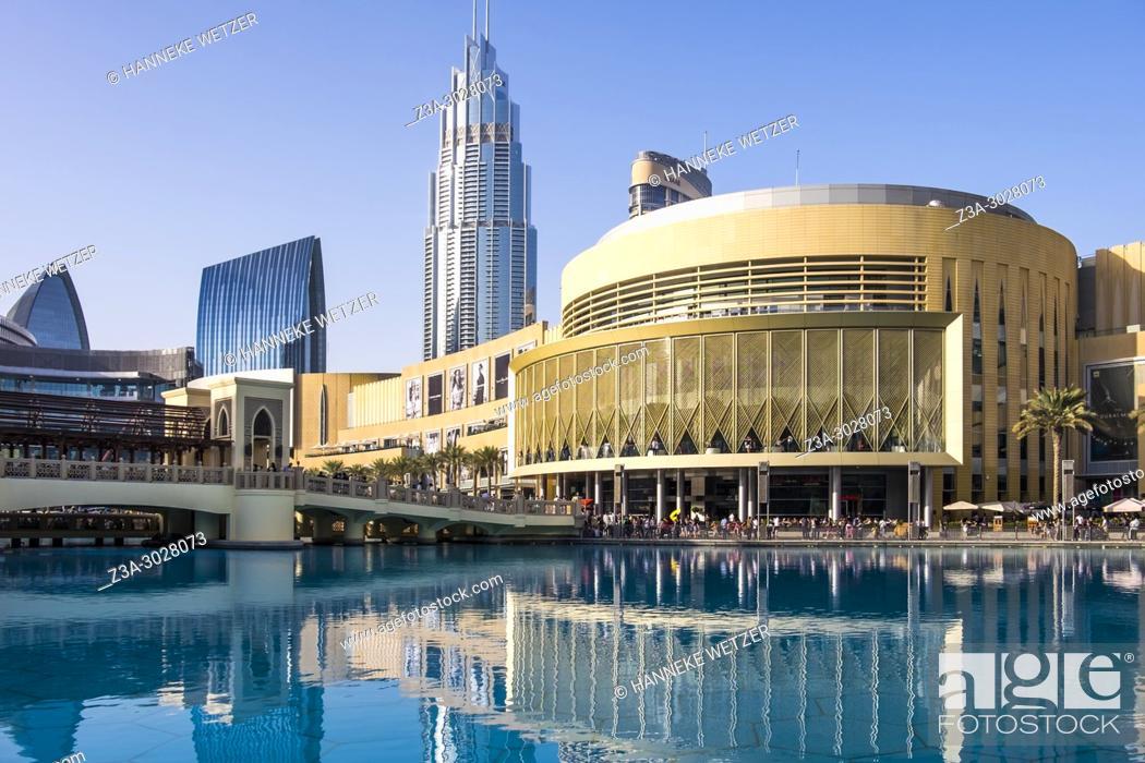 Stock Photo: Exterior of the Dubai Mall, Dubai.