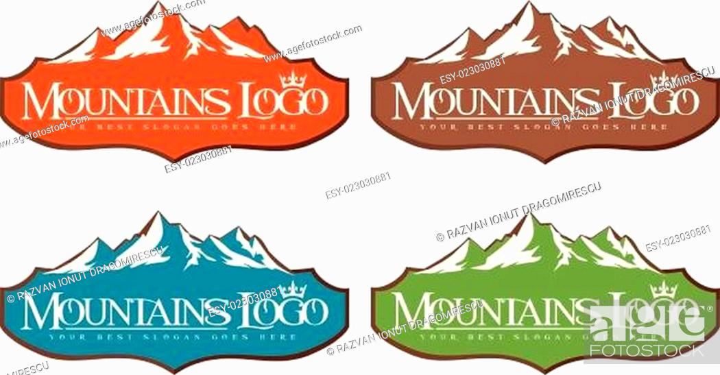 Stock Vector: Mountain Logo.