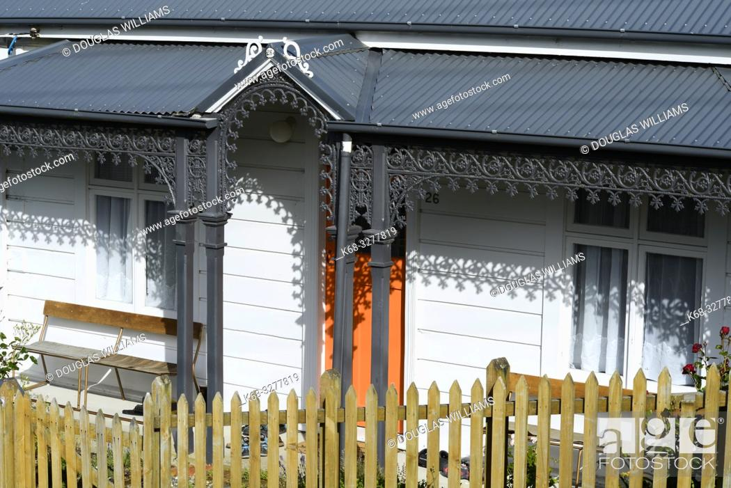 Stock Photo: A house in Port Chalmers, New Zealand.