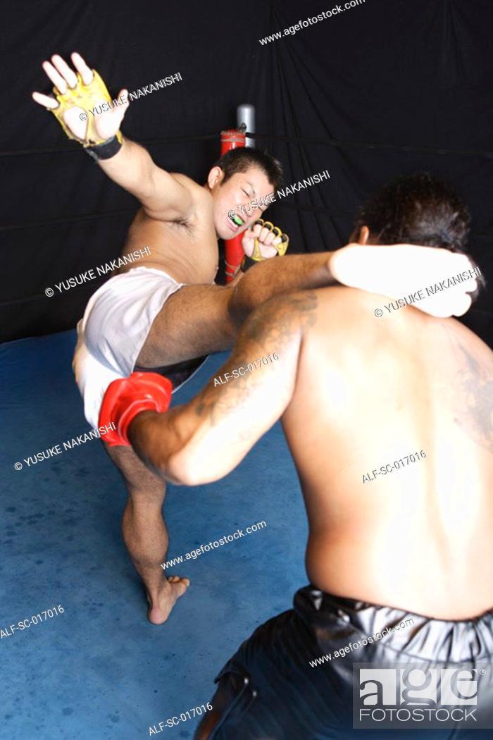 Stock Photo: A high kick to the head.