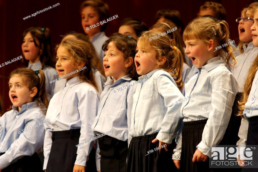 Stock Photo: Chorus performing at Teatre Principal, Palma de Mallorca, Majorca, Balearic Islands, Spain.