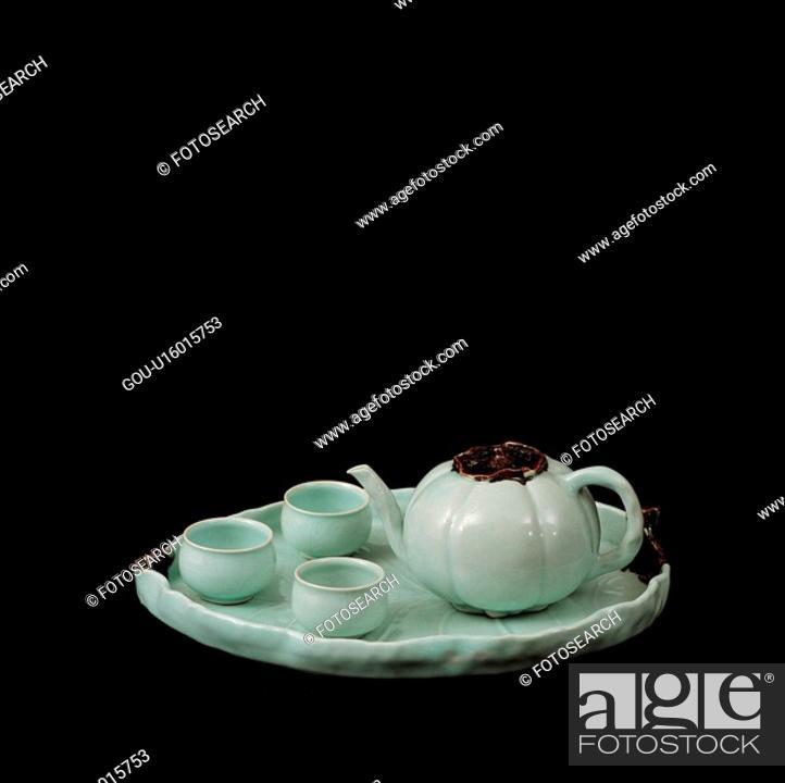 Stock Photo: korea culture, ceramics, house item, tradition, tea, teaport.