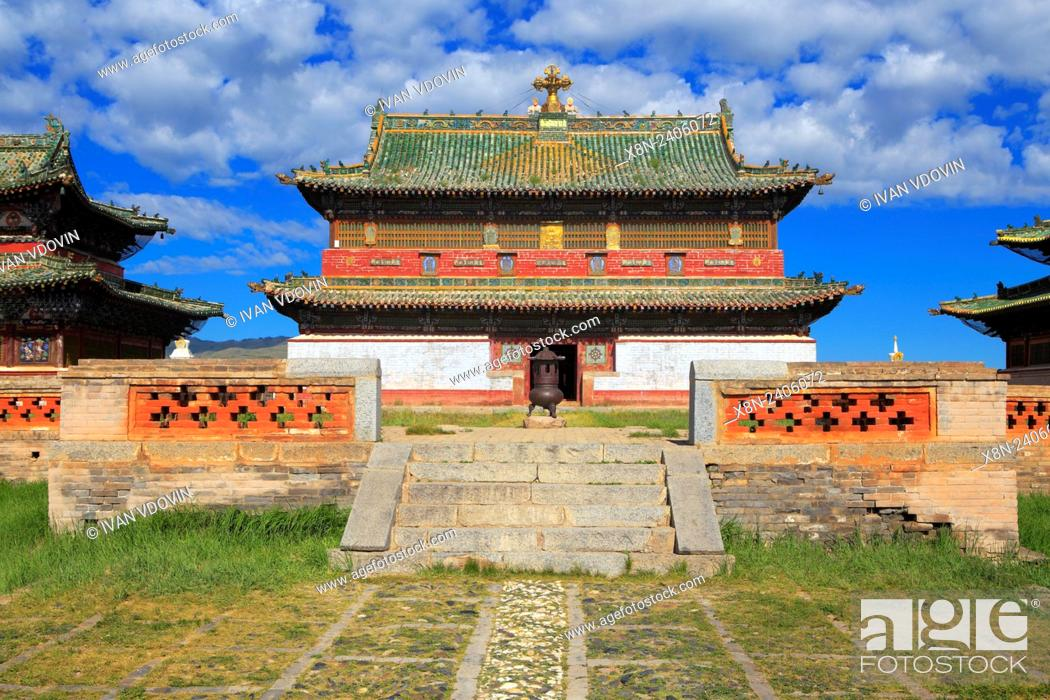Stock Photo: Erdene Zuu Buddhist monastery, Kharkhorin, Ovorkhangai Province, Mongolia.