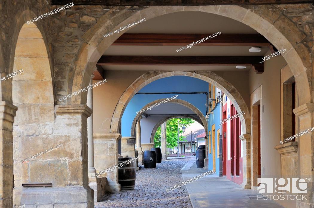 Stock Photo: Spain, Asturias, Aviles, Calle Galiana.