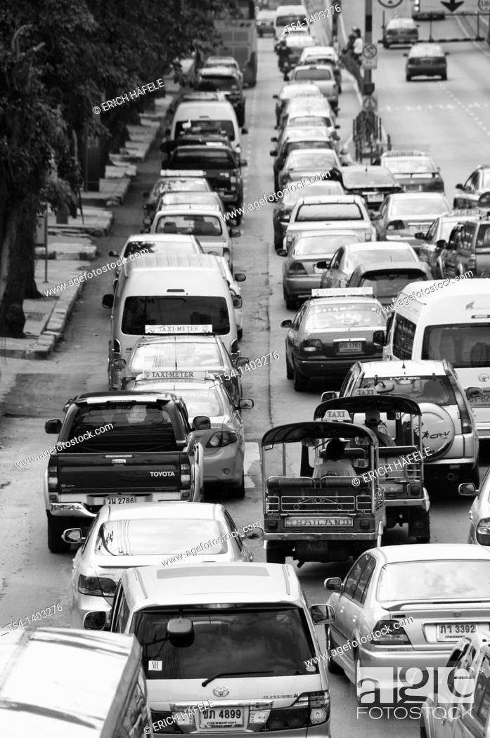 Stock Photo: Traffic Jam in Bangkok.