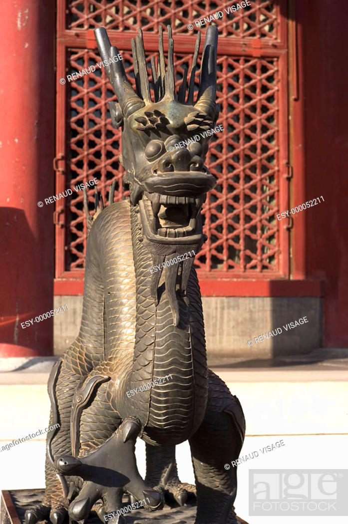 Stock Photo: Bronze statue of dragon at the Summer Palace. Beijing. China.